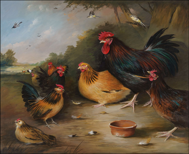 Poultry with Bantams in Landscape