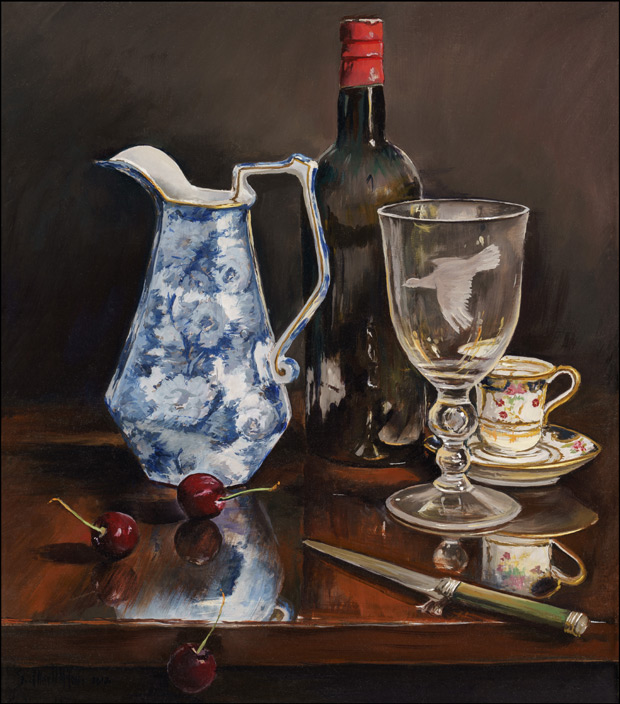 The Blue and White Jug
