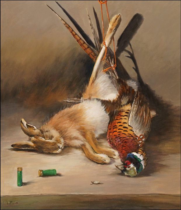 Still Life: Dead Game - A Brown Hare and a Pheasant Cock